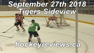 September 27th 2018 Tigers Front View Hockey Goalie GoPro