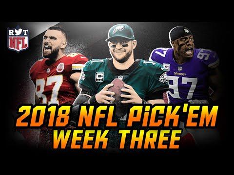 2018 NFL Week 3 Predictions   NFL Pick'em Challenge