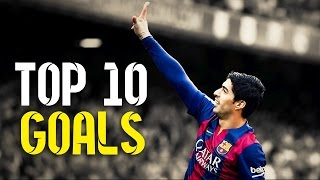Top 10 goals scored by luis suarez while at fc barcelona. if you enjoyed please leave a like and share this video. also don't forget to subscribe!!! song use...