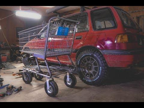 Lifted Shopping Cart! Junkyard Cart