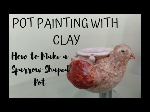 How to make a Sparrow out of Small Pot | Matka Decoration with Clay