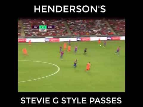 Jordan Hernderson long range pass vs Crystal Palace