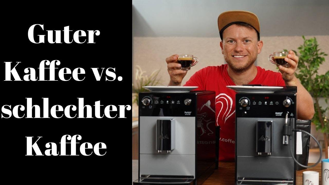 Guter und schlechter Kaffee für den Kaffeevollautomat | Verbranntes Gummi bis Obstkorb