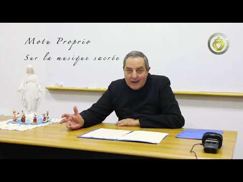 Motu Proprio sur la musique sacrée, Saint Pie X le 22/11/1903