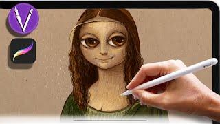 ✨Как рисовать на iPad В Procreate ✨Иллюстрация. Урок рисования/мастер-класс/туториал