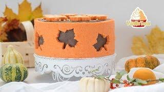 🍁 Herbsttorte | REZEPT Japanischer elastischer Biskuit - VanilleTanz