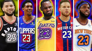 The 10 Best Starting 5's From EVERY NBA Jersey Number