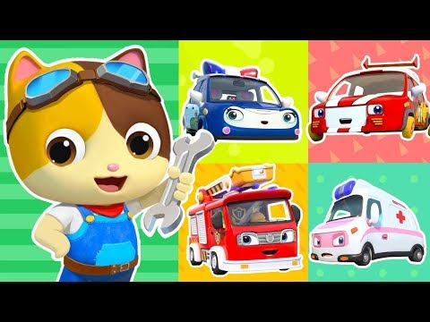 Five Little Cars Got Hurt | Doctor Cartoon, Fire Truck | Kids Songs | Kids Cartoon | BabyBus