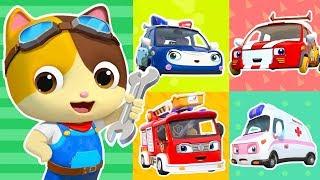 Beş Küçük Arabalara Zarar | Doktor Karikatür, İtfaiye Aracı | Çocuk Şarkıları | Çocuk Karikatür | BabyBus Var