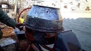 видео Как очистить бетономешалку от раствора: варианты