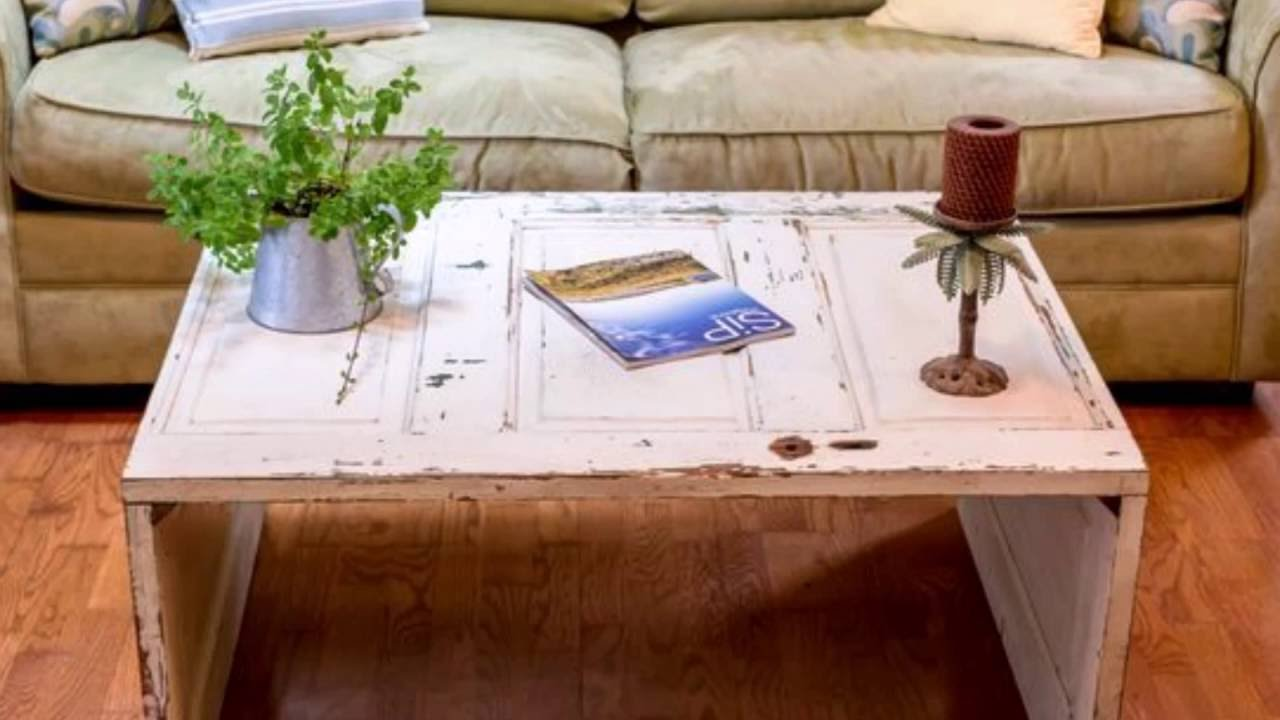 Diy Coffee Table From Old Door Antique Unique Interior Decor Youtube