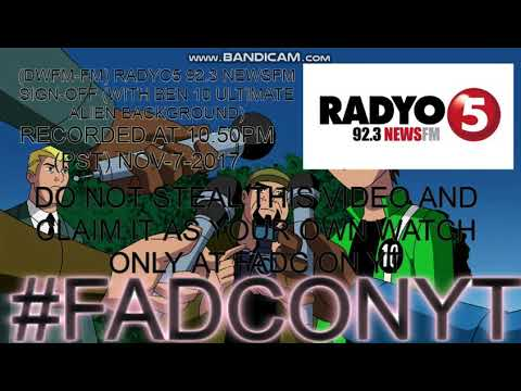 (DWFM-FM) RADYO5 92.3 NEWS FM Sign-Off (Note in Despriciton)