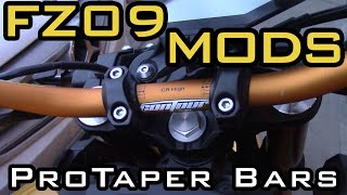 FZ09 Mods - Pro Taper handlebar Swap