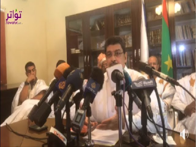 """ولد محم : مياه """"الظهر"""" وصلت النعمه منذ أسبوعين، وتنظيف الأنابيب ليس مهمة السياسيين"""