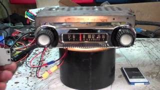1961 Ford Econoline Pickup original AM radio
