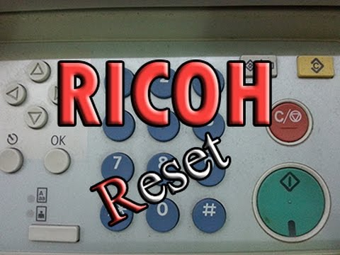 RICOH Reset MP171 SPF , gw2004