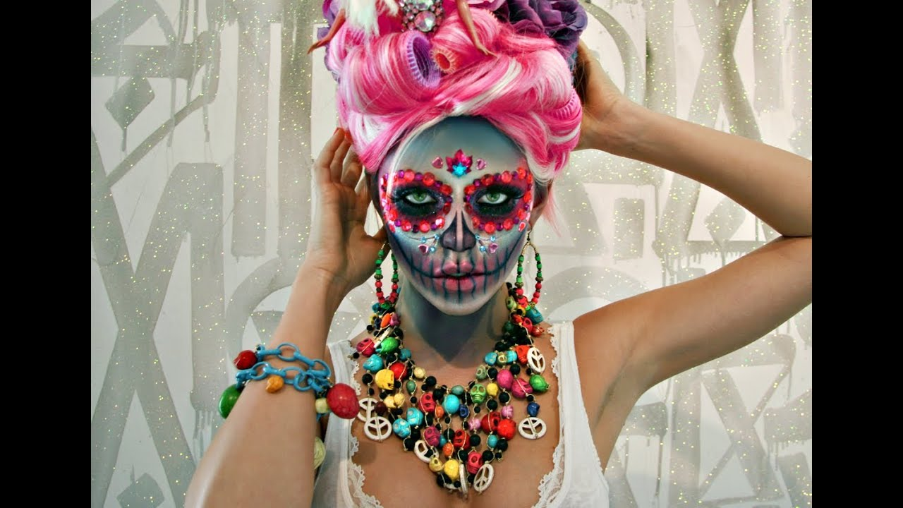 Sugar skull makeup tutorial youtube baditri Image collections