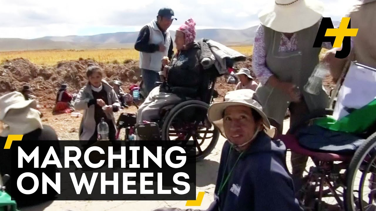 Disability Activists March In Bolivia