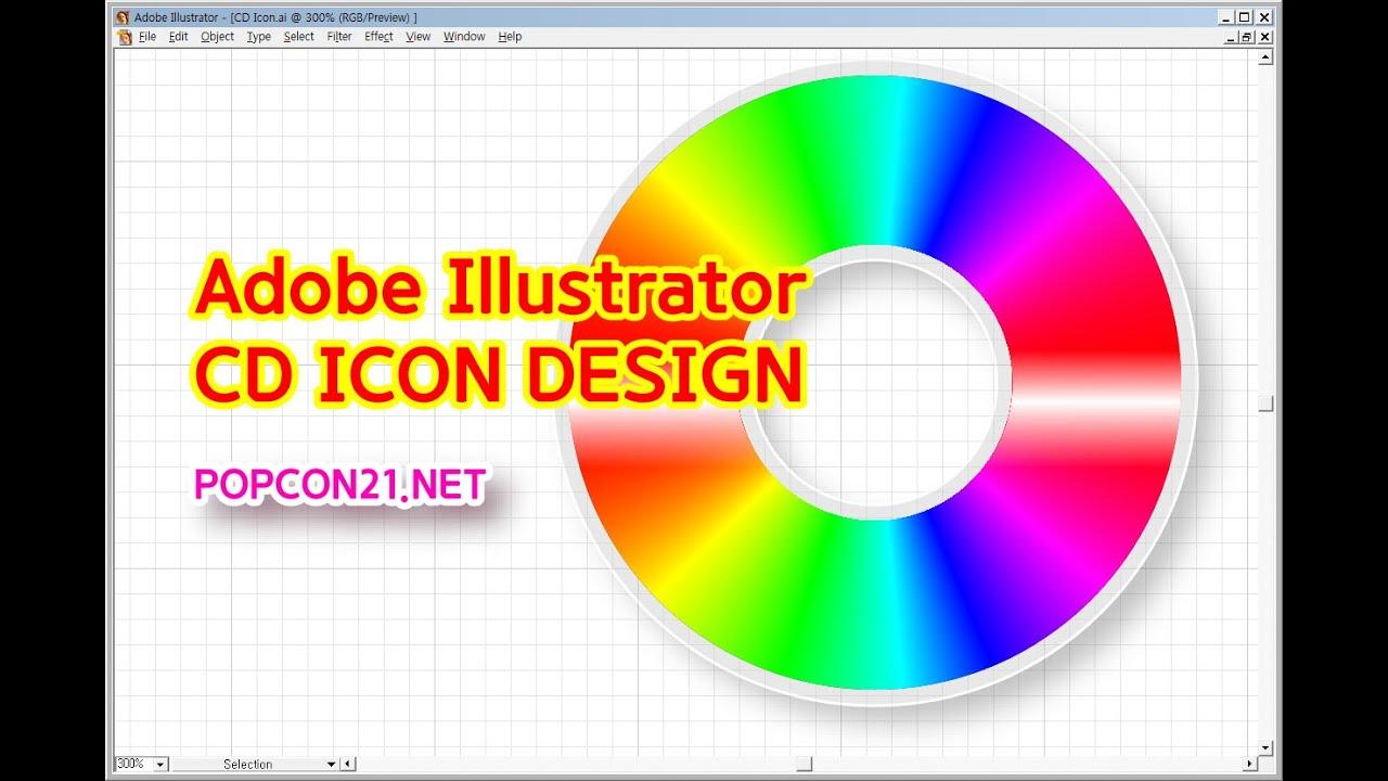 Adobe Illustrator CD ICON DESIGN - YouTube