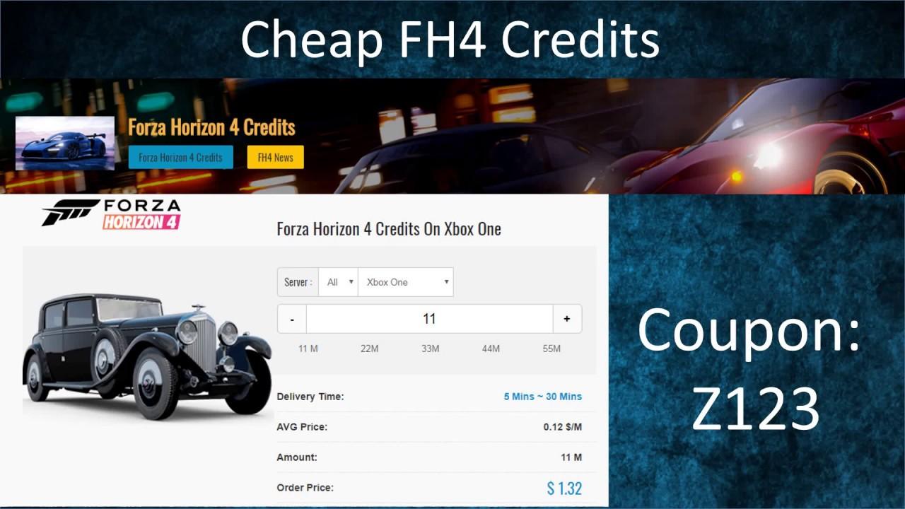 Forza Horizon 4 Credits for Sale at U4GM 2019 - Cheap FH4 Credits