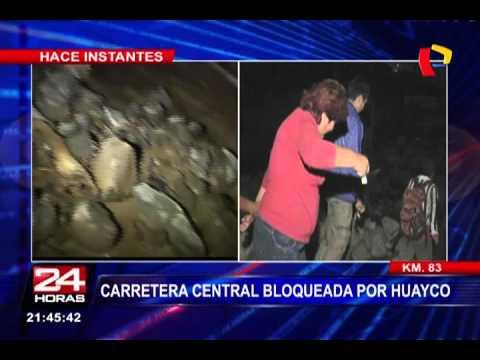 Huarochirí: Carretera Central Permanece Bloqueada Por Huaico (1/2)