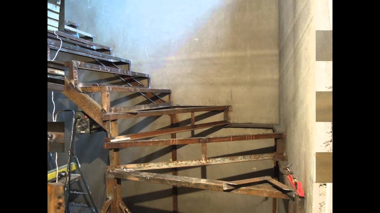 Металлическая лестница на второй этаж своими руками 202