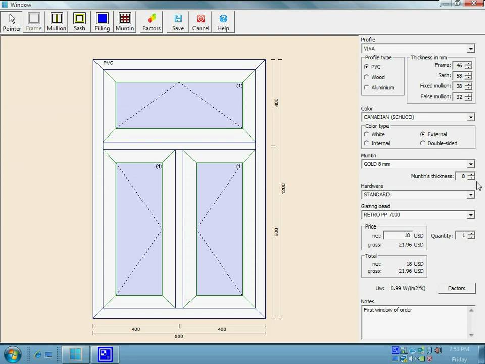 The pvc windows designer the program to valuate windows Blueprint designer free