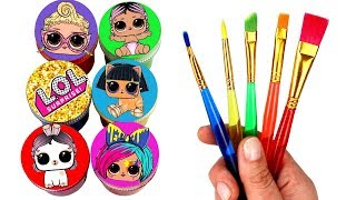 LOL Surprise Drawing & Painting LOL Dolls Opening LOL #Hairgoals Lils LOL Pets Toy Surprises