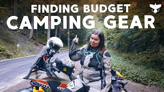 Motorcycle Camping Gear on a Budget