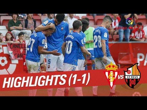 Resumen de Real Sporting vs CF Reus (1-1)