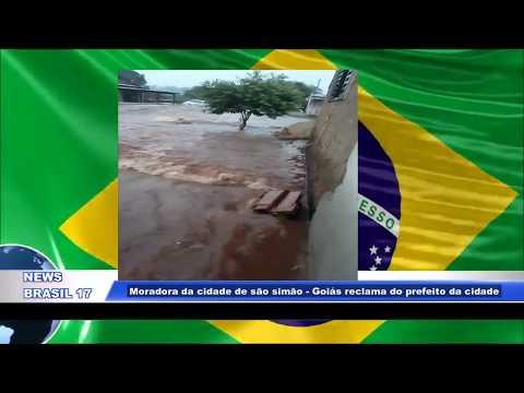"""Noticia - Moradora da cidade de são simão """"Goiás"""" reclama do prefeito da cidade. 21/03/19"""