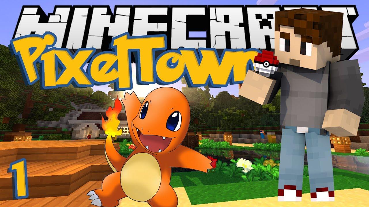 Minecraft pixeltown ep 1 shiny charmander minecraft - Pixelmon ep 1 charmander ...