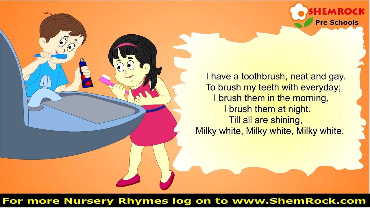 Nursery Rhymes my Teeth Milky White Songs with lyrics ...