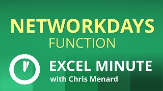 Excel NETWORKDAYS Function | One Minute Excel Function Demonstration