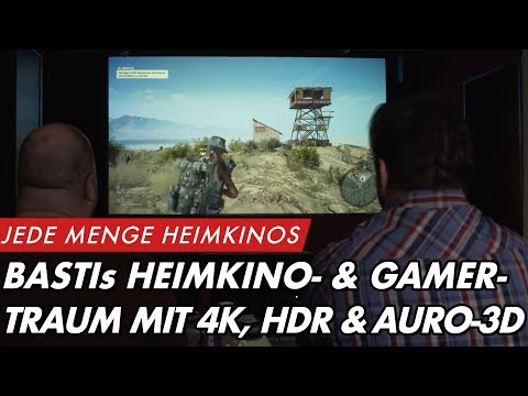 Sebastians Heimkino- & Gamer-Traum mit 4K-HDR-Laserbeamer und Auro-3D Setup |  GROBI.TV