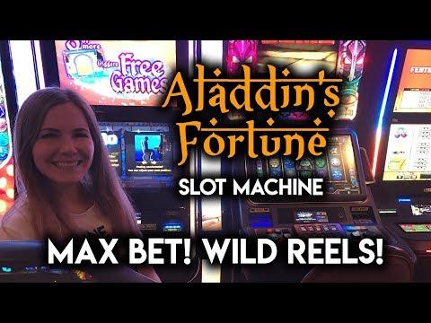 MAX BET! Aladdins Fortune Slot Machine! WILD REELS!