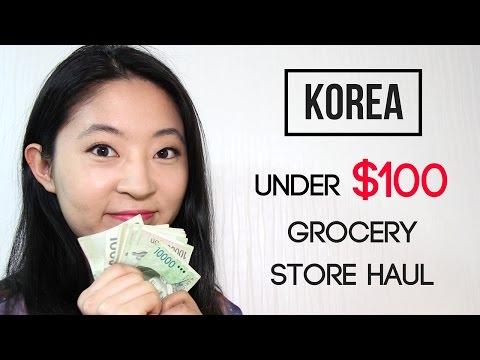 Korean Grocery Haul for Under $100   Cost of Living in Korea