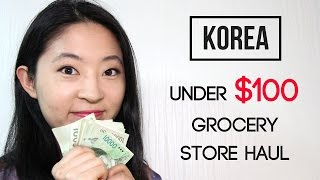 Korean Grocery Haul for Under $100 | Cost of Living in Korea