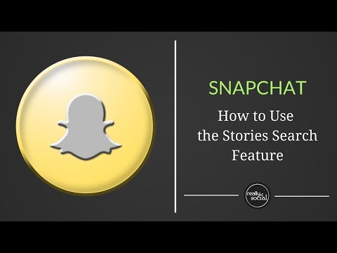 How to Use Snapchat Stories Search