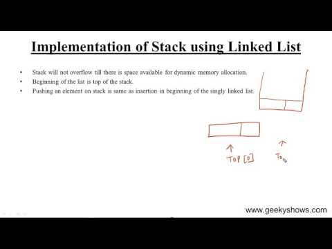 Implementation of Stack using Linked List in Data Structure