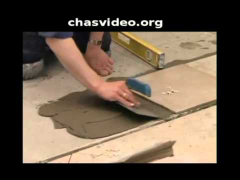 Как правильно уложить напольную плитку