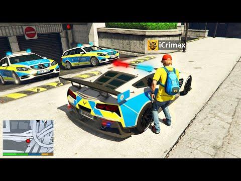 Ich KLAUE alle POLIZEI LUXUS AUTOS in GTA 5 RP!