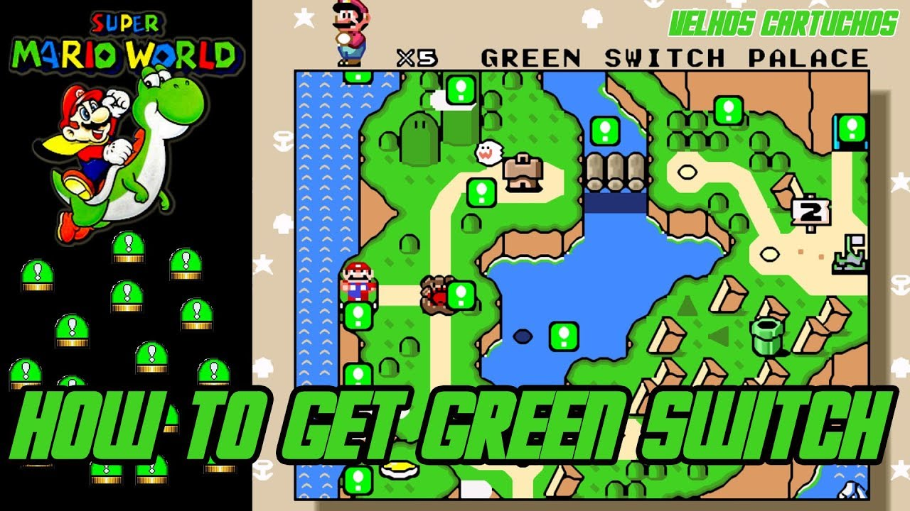 Super Mario World How To Get The Green Switch Youtube