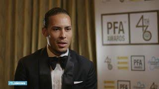 Virgil van Dijk reageert op verkiezing Speler van het Jaar: 'Grootste eer die er is'