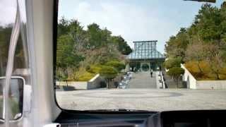 MIHO MUSEUM 電気自動車 前面展望 レセプション棟~美術館