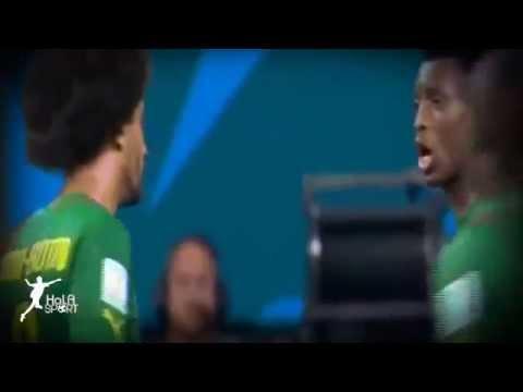 Brawl between players in match Cameroon vs croatia 0-4 | 2014-6-19 | HD