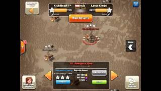 Clanwar KickAssAt™ vs Lava Kings - 3 Star Attacks - Clash of Clans