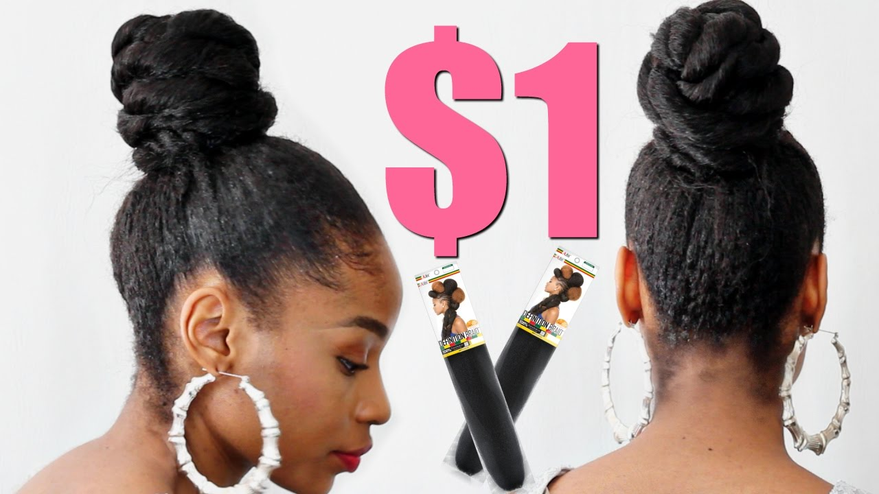 styles to do with kanekalon hair twisted bun with kanekalon hair hair protective 1598 | maxresdefault