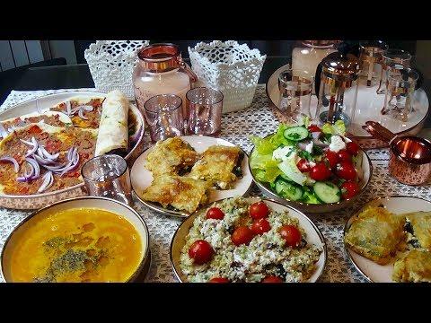 Menu du ftour du ramadan à la turque