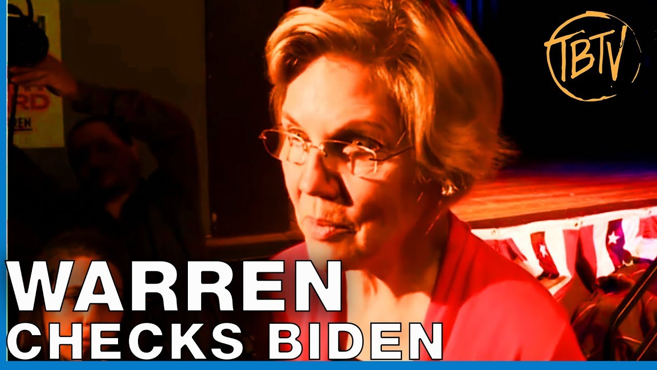 LATEST POLITICS: Senator Elizabeth Warren 2020 Calls Out Joe Biden Running